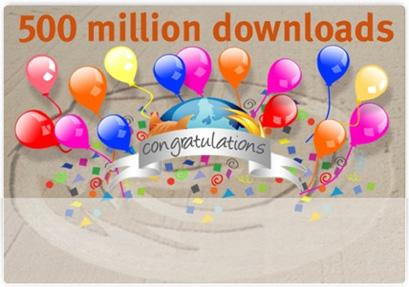 Más de 500 millones de descargas para Firefox