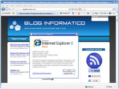 Internet Explorer 8 Beta 1