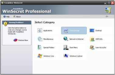 TweakNow WinSecret Professional