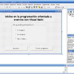 Visual Basic: Inicios en la programación orientada a eventos