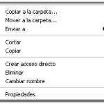 Windows: Añadir opción Copiar a carpeta en menú contextual
