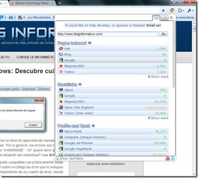 Chrome SEO Extensión Google Chrome