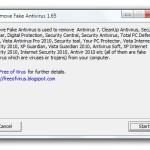 Detectar y eliminar falsos antivirus en Windows usando Remove Fake Antivirus