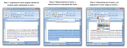 Eliminar hipervícunlos de documentos Word