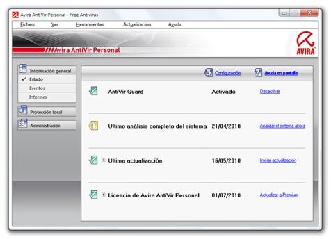 El mejor antivirus gratis - Avira AntiVir Personal