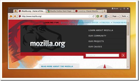 Firefox 4.0 - Propuesta de la nueva interfaz