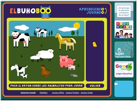 Juegos educativos gratis online - El Buho Boo