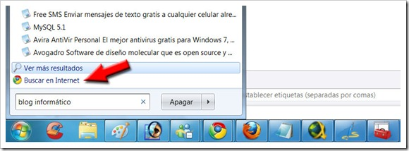 Buscar en Google desde Windows 7
