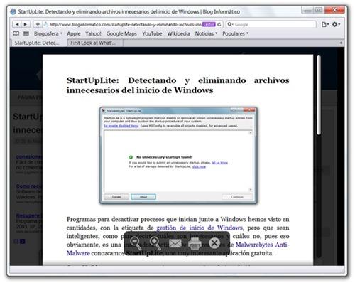 Safari 5 Modo lector