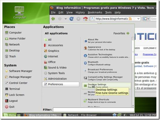 Aplicaciones de Linux Mint 9 LXDE