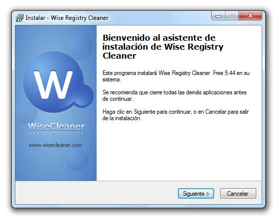 Wise Registry Cleaner - Paso 1
