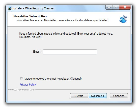 Wise Registry Cleaner - Paso 3