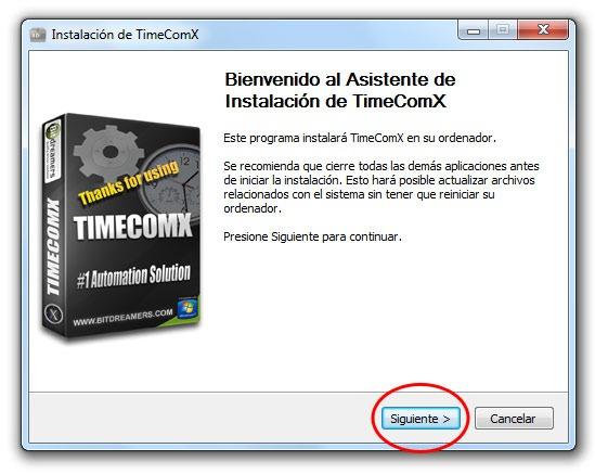 TimeComX - Paso 1