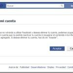 Cómo eliminar o cancelar cuenta del Facebook permanentemente