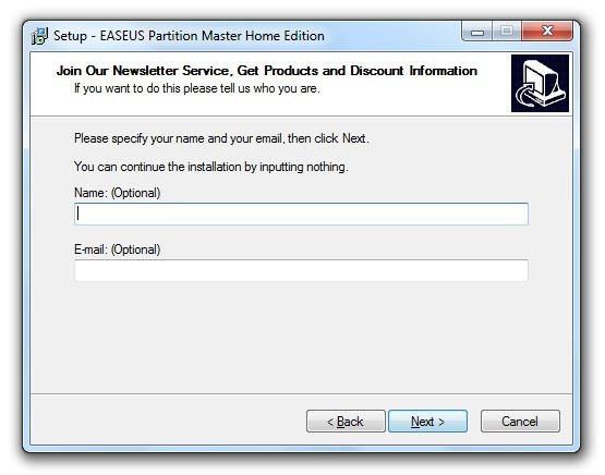 Instalación de EASEUS Partition Master 7