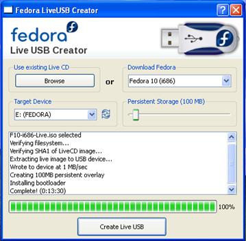 Fedora LiveUSB Creator