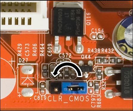 CLR CMOS Resetear BIOS