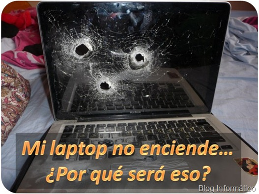 Mi laptop no enciende ni arranca