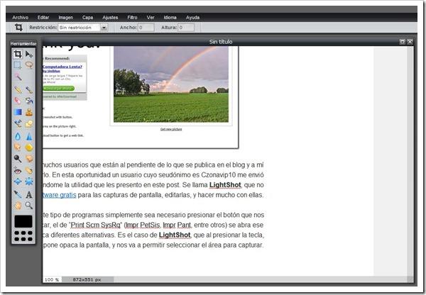 Editor online de fotos