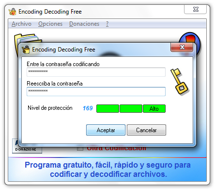 Contraseña segura en Windows - Encoding Decoding