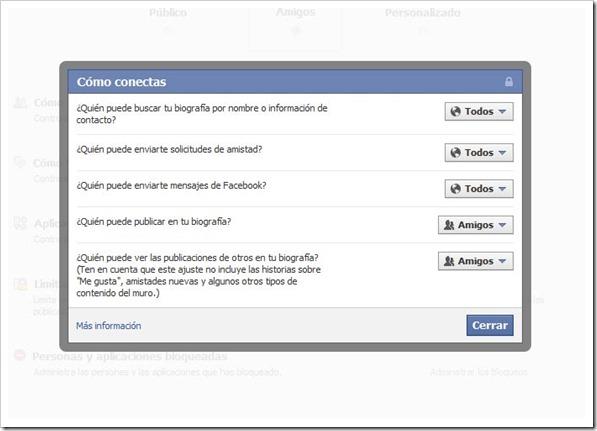 Privacidad del Facebook