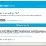 Metascan online: Escáner en línea de virus, troyanos, malware – Trabaja con 31 motores
