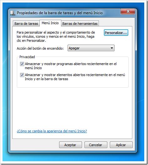 Eliminar historial de Windows 7 - 2