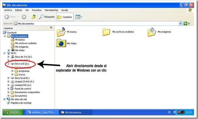 Abrir archivos desde el explorador de Windows