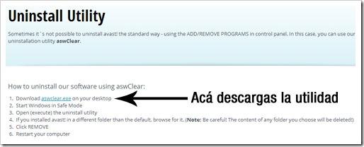 Descargar Avast Removal Tool