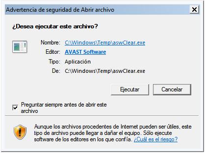 Desinstalar Avast - Primera pantalla