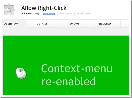 Allow right-click.