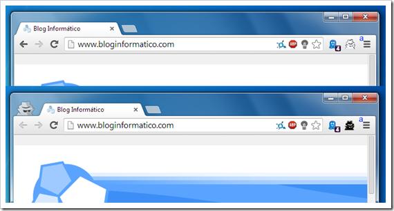 Chrome incognito mode.