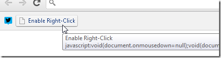 Enable right-click.