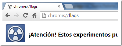 Chrome flags.