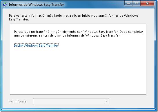 Informes de Easy Transfer.