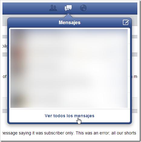 Mensajes de Facebook.
