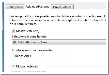 Configurar reloj de Windows