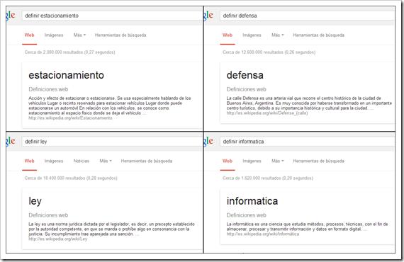 Definir con Google