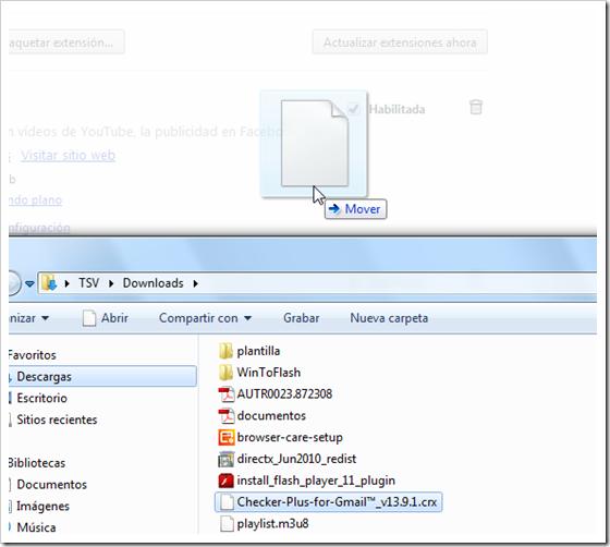 Instalar extension en Chrome