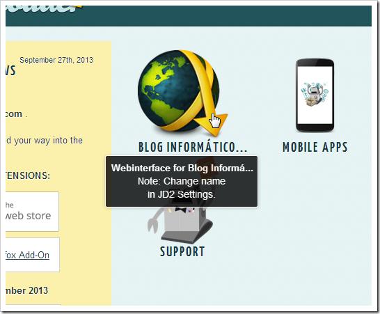 My jDownloader web