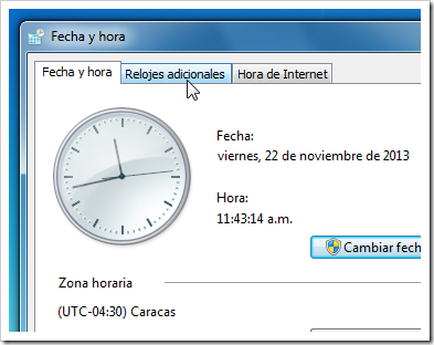 Reloj de Windows