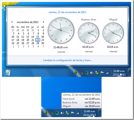 Relojes en Windows