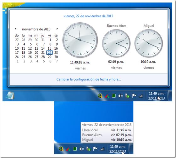 Relojes en Windows