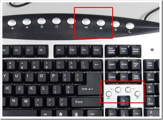 Teclado multimedia