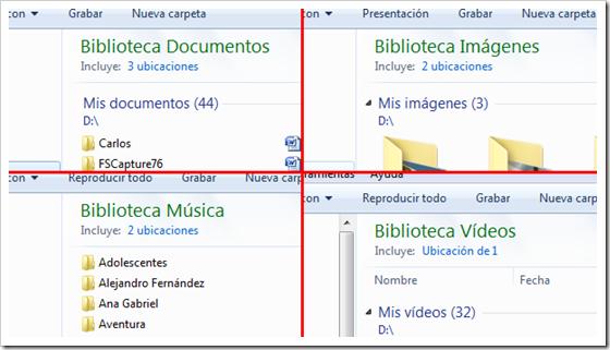 Bibliotecas de Windows
