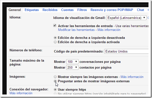 Configurar Gmail