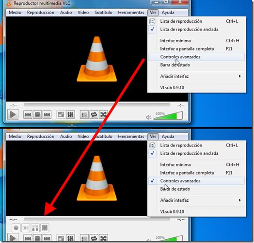 Controles avanzados del VLC Player