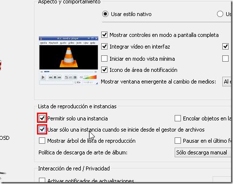 2Modificar preferencias del VLC