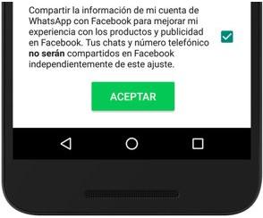WhatsApp - Evitar que tu número salga en Facebook