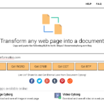 Document Cyborg: Convertir página web en PDF, Word, EPUB, TXT…